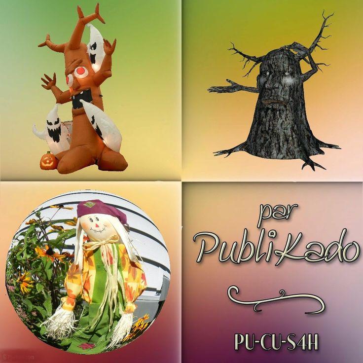 PUBLIKADO: Halloween 2014 - Trio # 1 3 clipart Grandes tailles - 300 dpi PU-CU-S4H