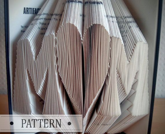 Book Folding Pattern with FREE TUTORIAL MOM by FoldedBookPattern