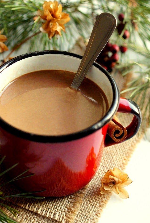 Przy Piecu: Zimowy napój czekoladowy z Dulce de leche