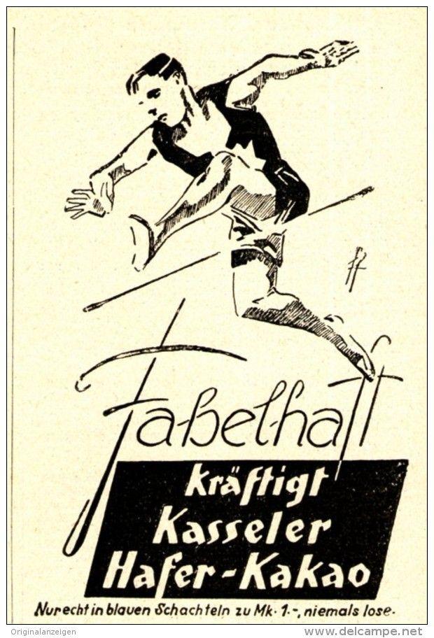 Original-Werbung/ Anzeige 1928 - KASSELER HAFER-KAKAO - ca. 65 x 90 mm