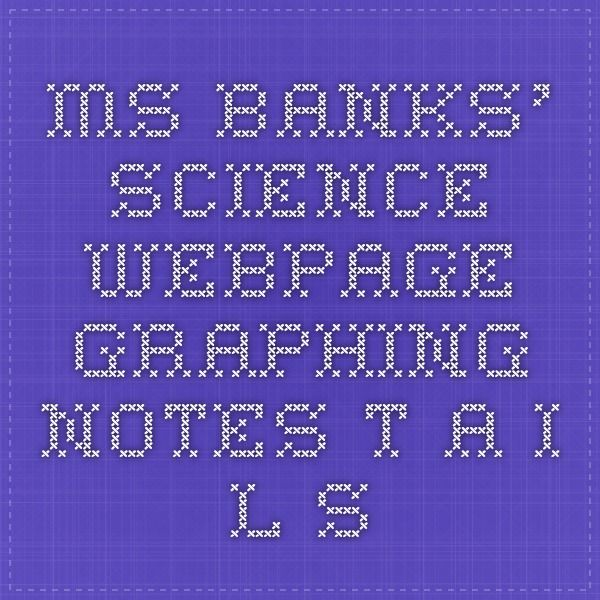 Ms. Banks' Science Webpage - Graphing Notes- T.A.I.L.S
