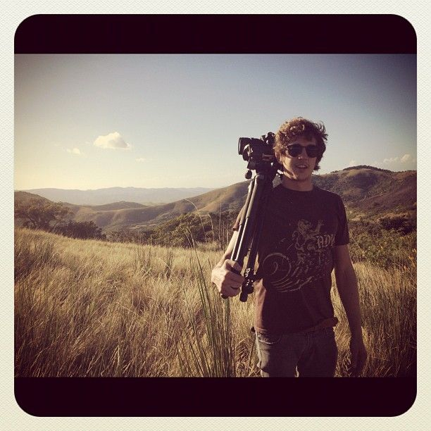 Still one of my favorite #Instagram photos of all time! Rudy Kindler, Director of Photography on the Out on a Limb #charity expedition, with his tripod and 5d Camera in the #Transkei. #WildCoast