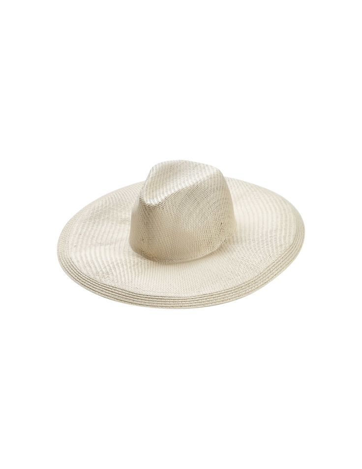 Celeste hat - Women's sun hat in paper straw. Features a shaped crown with grosgrain at inside. Tiger of Sweden leather label at back.