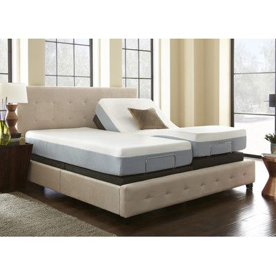 eco lux power adjustable bed base with remote control size