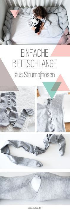 Geflochtene Bettschlange aus Strumpfhosen selber machen – DIY Idee für's Kinderzimmer
