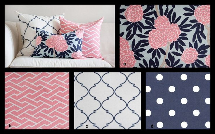 i like this idea of pink navy with a mix of designs you design custom 2 piece crib bedding. Black Bedroom Furniture Sets. Home Design Ideas