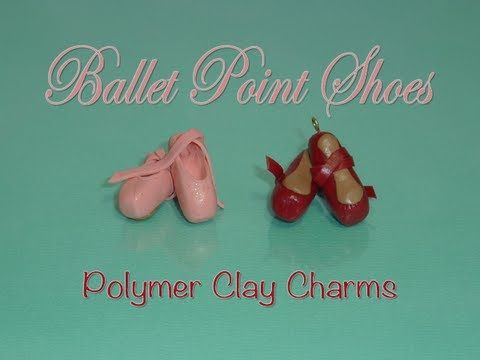 Ballet Point Shoes Polymer Clay Charm