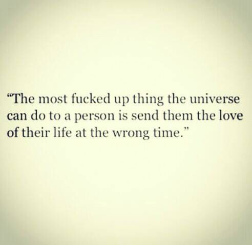 Universe, get your timing right!