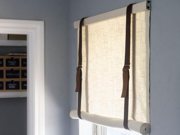 How To Make A Linen And Leather Roman Shade Custom Drapes Curtains Roll Up Curtains