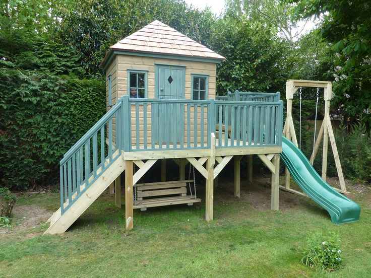 Best 25 childrens wooden playhouse ideas on pinterest for Kids wooden treehouse