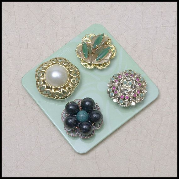 Set of Jeweled Magnets for Office,  Refrigerator, dorm room,  etc. on by AuntRitz, $11.95