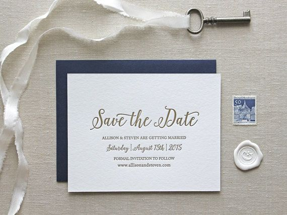 Letterpress Save the Date // CHATHAM & CARON letterpress studio // www.chathamandcaron.com  //  Letterpress Invitations, Letterpress Wedding Invitations, Classic, Modern, Calligraphy, Wedding Invitations, Elegant, Monogram Invitation, Natural, Rustic, Script, Pretty, Timeless, Affordable, Floral