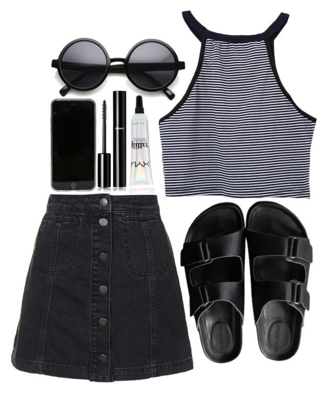 """""""grlpwr"""" by purefection ❤ liked on Polyvore featuring Topshop, Chanel, American Rag Cie, women's clothing, women's fashion, women, female, woman, misses and juniors"""