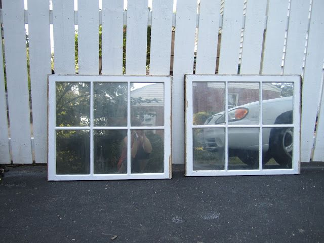 Turn old windows into mirrors using Looking Glass spray paint. In 10 minutes you have a new expensive looking mirror!
