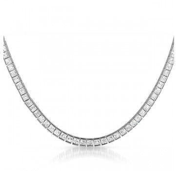Princess cut tennis necklace. For those special evenings