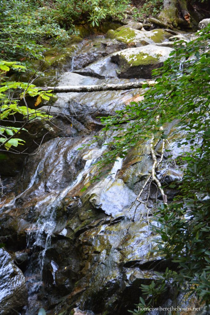 The falls at Glen Burney Trail, Blowing Rock, NC | homeiswheretheboatis.net