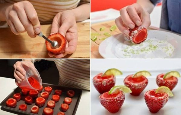 Strawberry Margarita Jello Shots Recipe..not a drink but falls into the alcohol category for me