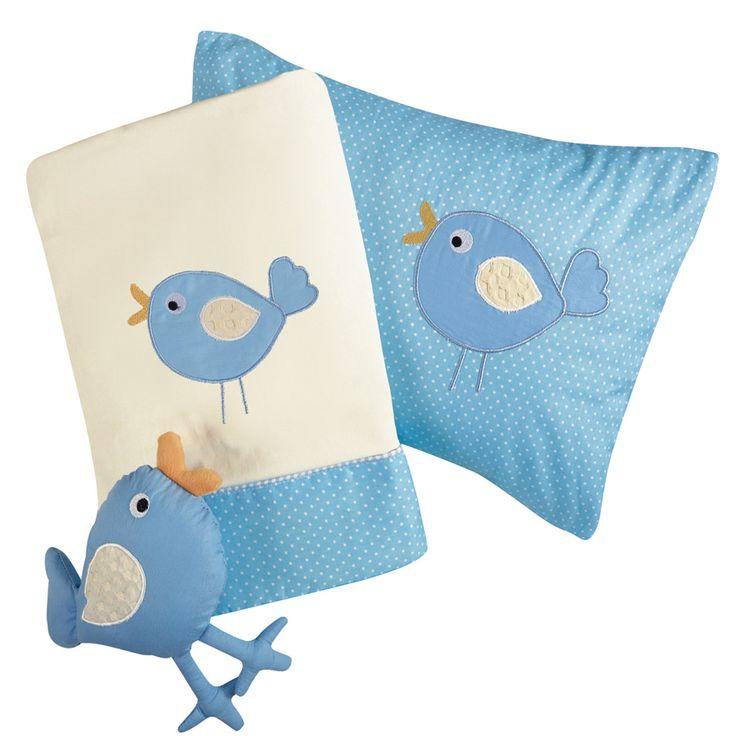 Σετ σεντόνια Baby Line Embroidery - Light Blue (Γαλάζιο) - Das Baby