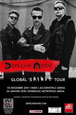 Depeche Mode en concert à l'Arena Bercy de Paris en décembre 2017