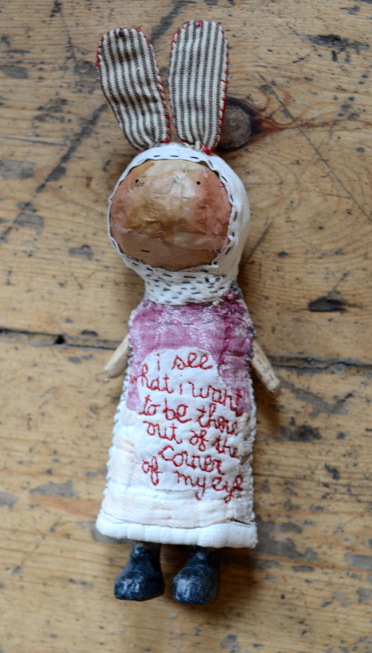 Totally enchanting Julie Arkel doll . . . 'I see what I want to be there out of the corner of my eye'