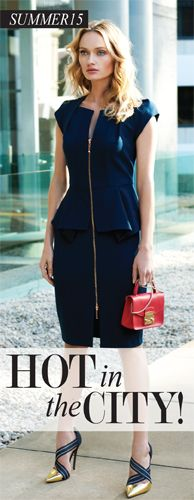 S15 Hot in the city   Blair Zip front dress from Montique