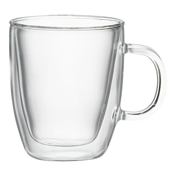 Bodum Bistro Mug is handmade in a double-walled, insulating design out of Borosilicate glass.