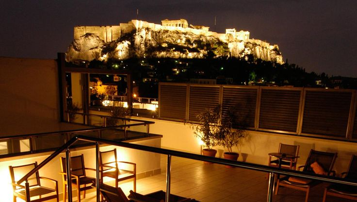 View of Acropolis--Central Hotel, Plaka