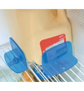 This RV Refrigerator Brace is the perfect kitchen accessory for any RV. With this set of two fridge braces you can drive around knowing you are keeping food and drinks in the fridge securely. The braces install in seconds at fit most wire fridge shelving. While the braces are great for your RV fridge they are also a gr