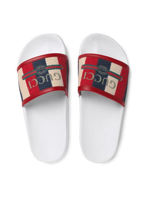 8f3ec78e1 Gucci Gucci logo Sylvie slide sandals | Shoes | Sandals, Slide ...