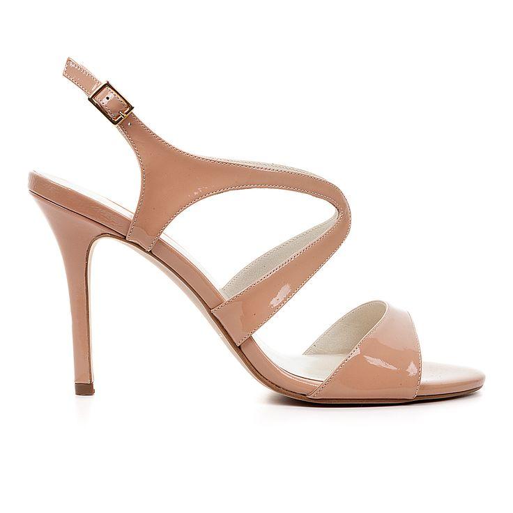 Code: 850A02 Heel height: 8cm www.mourtzi.com #nude #sandals #ss15