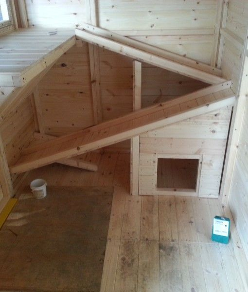 A Rabbit Shed with a apex roof made in the UK