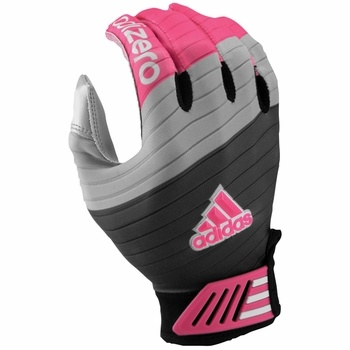 Pink Football Gloves - Adidas adiZero Smoke Adult Football Receiver Gloves - $36.95