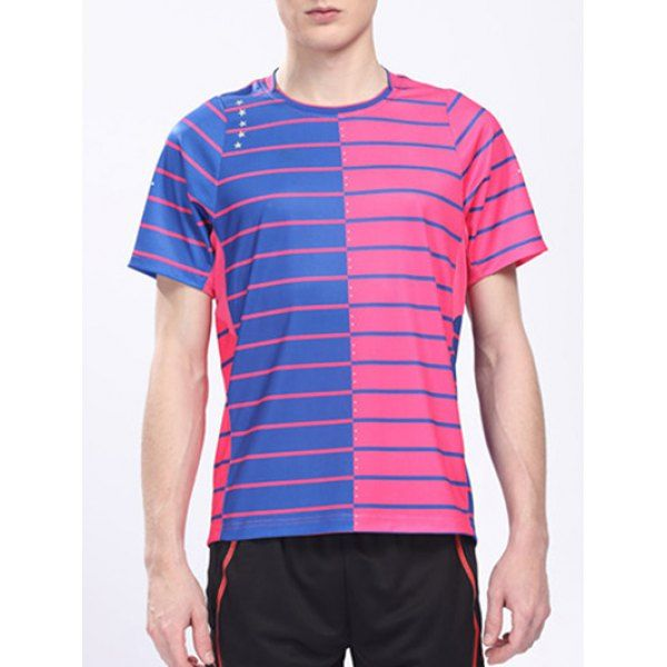 Round Neck Short Sleeve Logo Customized Badminton Quick Dry Training Men's T-Shirt #CLICK! #clothing, #shoes, #jewelry, #women, #men