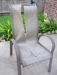 Who knew you could replace the slings on patio furniture?!? Definitely need to replace some on our chairs!