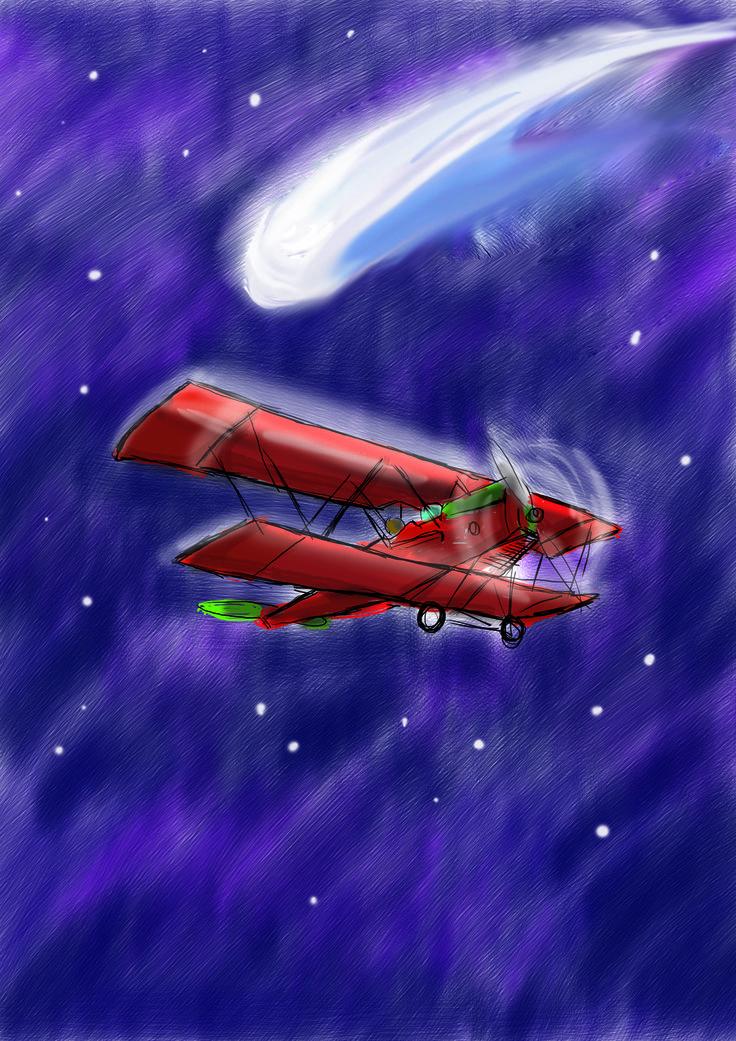 Il biplano e la cometa, prova di copertina