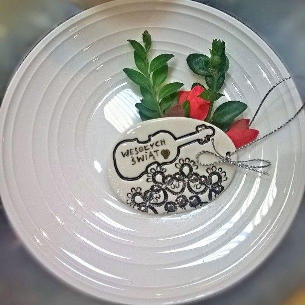 Handmade porcelain Easter egg..