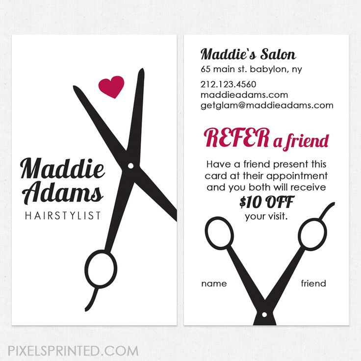 40 best hairstylist referral cards images on Pinterest | Beauty salons