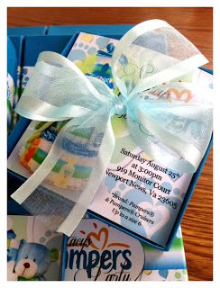 Exquisite Couture Designs - All Things Creative by Crystal S. Jacobs: Pampers theme Baby Shower - Boxed Invitations