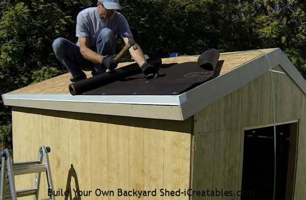 How To Install Asphalt Shingles Install Tar Paper Installing Roof Shingles Building A Shed Roof Truss Design