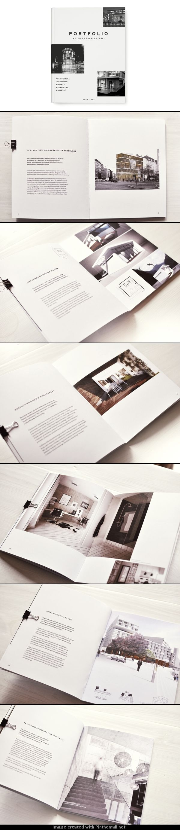 I like the use and juxtaposition of text and pictures. Font is simple but effective Portfolio layout