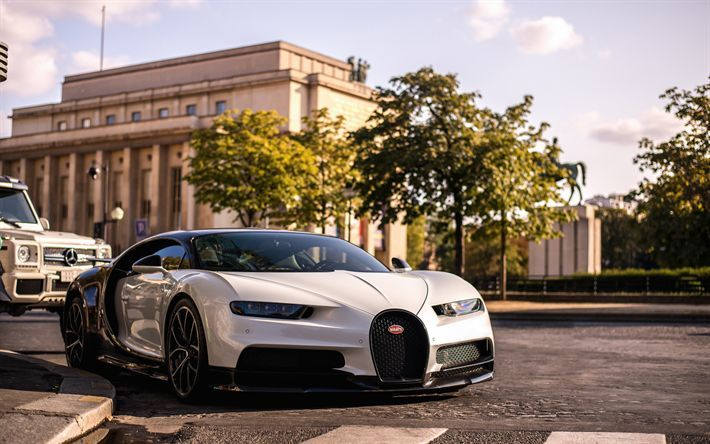 Download Wallpapers Bugatti Chiron 2018 4k Luxury Hypercar