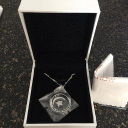 """Amazon.com: JINGCHOW Sterling Silver Jewelry Your are My Moon and Star Pendant Necklace, 18"""" (Full Moon Style): Jewelry"""