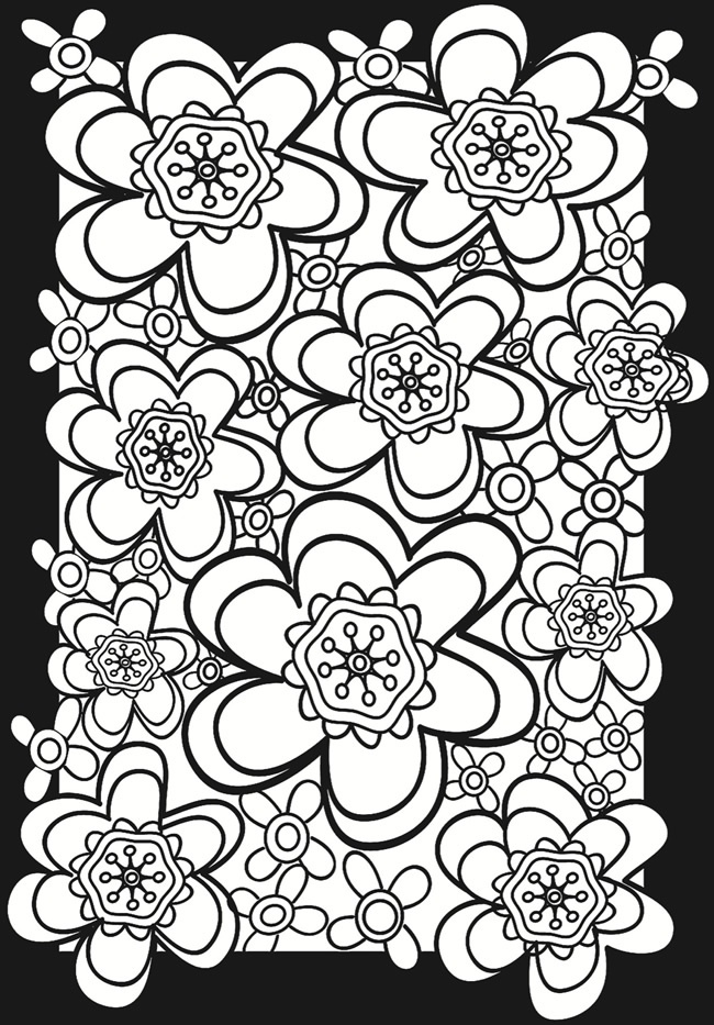flower power coloring pages - photo#7