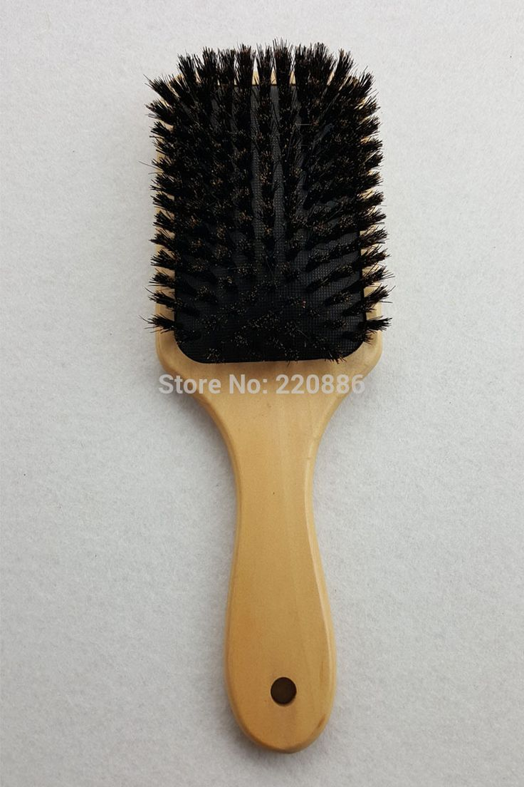 Wooden Hair Brush Boar Bristle Mix Nylon Hair Brush Paddle Hair Brush Hair Extension Brush GIC-HB571 (1 piece) Free Shipping