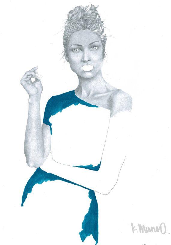 Fine Art Print from Original Fashion by KatieMunroPrints on Etsy