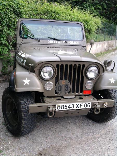 jeep cj7 military style