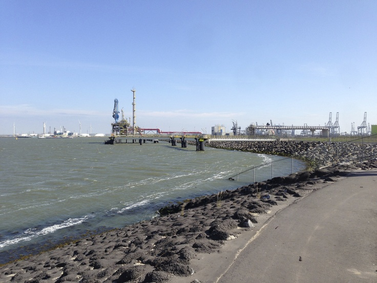 Harbor industrial sight at the 2nd Maasvlakte