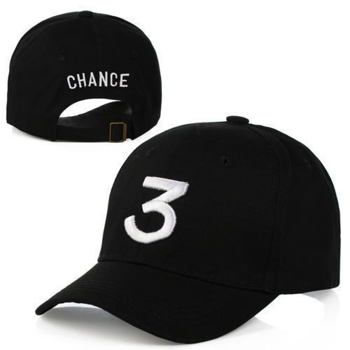 This listing is for a Chance The Rapper Black 3 strapback hat. Happy Shopping!