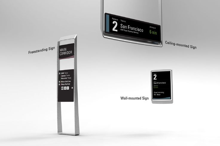 Wayfinding System for California High-Speed Rail on Behance