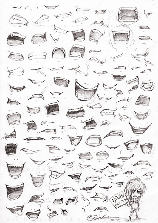mouths | How to draw: anime | Pinterest | Clothes ...  How To Draw An Anime Smile